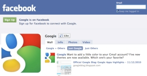Google page on Facebook