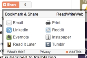 ReadWriteWeb social sharing