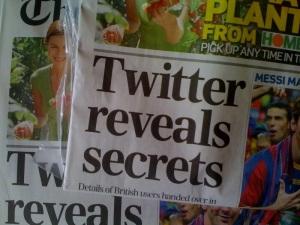 Sunday Telegraph Twitter story