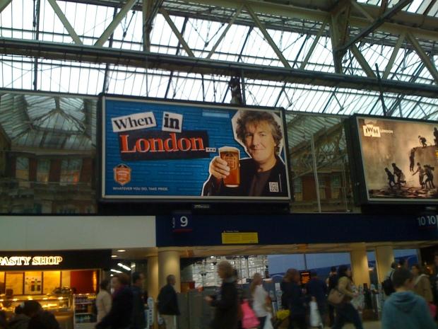 QR code London billboard
