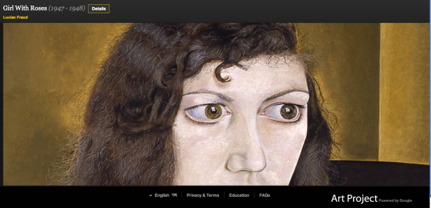 Google Art Project Lucien Freud Girl with Roses