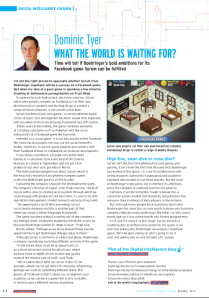 Digital Intelligence column PME Oct 2012